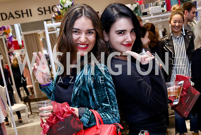 Ana Javashvili, Nutsa Tedishvili. Photo by Tony Powell. Tadashi Shoji Washington Life Event. March 30, 2017
