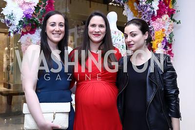 Nicole Indelicato, Hilary Eldridge, Sophie Blake. Photo by Tony Powell. Tadashi Shoji Washington Life Event. March 30, 2017