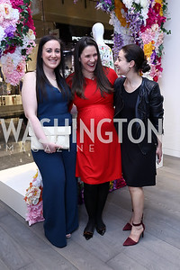 Nicole Indelicato, Hilary Eldridge, Sophie Blake. Photo by Tony Powell. Tadashi Shoji Washington Life Event. March 30, 2017