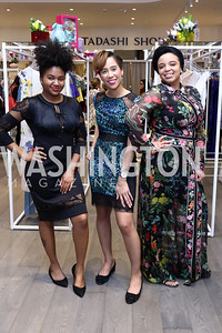 Sherrele Cooper, Brittany Gunn, Aja Flowers. Photo by Tony Powell. Tadashi Shoji Washington Life Event. March 30, 2017