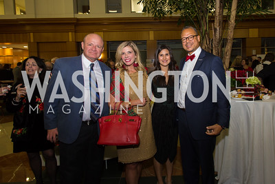Chris Moscoso, Allison Priebe, Katharine Kratovil, Walter Clarke Taste of Scotland - Campagna Center Donor Reception December 1, 2017 Photo by Naku Mayo