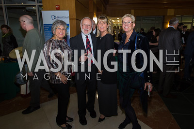 Cathy and Norman Bradford, Christine Garner, Susan Browning Taste of Scotland - Campagna Center Donor Reception December 1, 2017 Photo by Naku Mayo