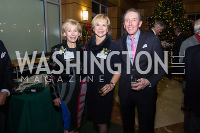 Anne Kelly, Sue Goodhart, Don Kelly Taste of Scotland - Campagna Center Donor Reception December 1, 2017 Photo by Naku Mayo