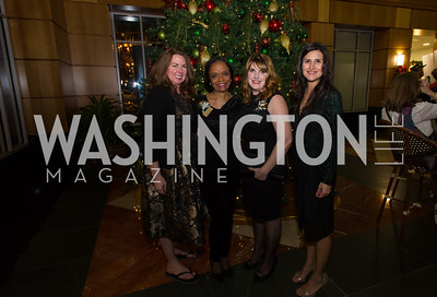 Kara Hill, Tammy Mann, Katelin Moomau Briney, Katharine Kratovil Taste of Scotland - Campagna Center Donor Reception December 1, 2017 Photo by Naku Mayo