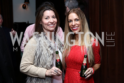 MHUSA MidAtlantic Manager Michelle Desrosiers, Manager Moet & Chandon SE Regional Business Development Trisha Cancilla. Photo by Tony Powell. TechNet Innovation Lunch. Joe's Seafood. January 19, 2017