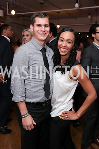 Michael Moroney, Francesca Chambers. Photo by Tony Powell. The Hill's 50 Most Beautiful. WeWork White House. July 26, 2017