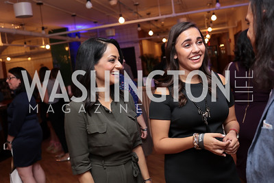 Michelle Persaud, Anais Carmona. Photo by Tony Powell. The Hill's 50 Most Beautiful. WeWork White House. July 26, 2017