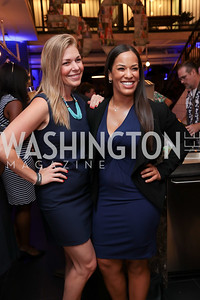 List Members Courtney Burks and Tiffany Harris. Photo by Tony Powell. The Hill's 50 Most Beautiful. WeWork White House. July 26, 2017