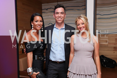 Bethany Kazaba, Neil Grace, Jayne Visser. Photo by Tony Powell. The Hill's 50 Most Beautiful. WeWork White House. July 26, 2017