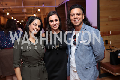 Michelle Persaud, Anais Carmona, Roberto Fierro. Photo by Tony Powell. The Hill's 50 Most Beautiful. WeWork White House. July 26, 2017
