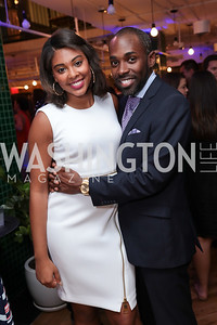 List Member Leah Levell, Paris Dennard. Photo by Tony Powell. The Hill's 50 Most Beautiful. WeWork White House. July 26, 2017