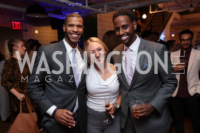 List Member Lewis Myers, Talia Davis, Samuel Negatu. Photo by Tony Powell. The Hill's 50 Most Beautiful. WeWork White House. July 26, 2017