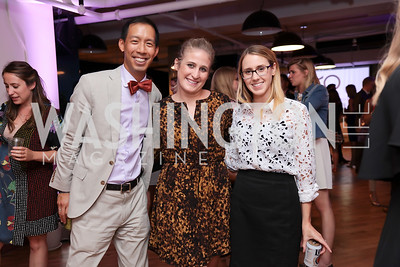 Ben Chang, Megan Wilson, Ellen Mitchell. Photo by Tony Powell. The Hill's 50 Most Beautiful. WeWork White House. July 26, 2017