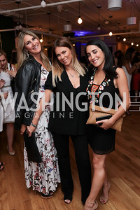 Virginia Coyne, Listmember Kate Bennett, Catherine Trifiletti. Photo by Tony Powell. The Hill's 50 Most Beautiful. WeWork White House. July 26, 2017