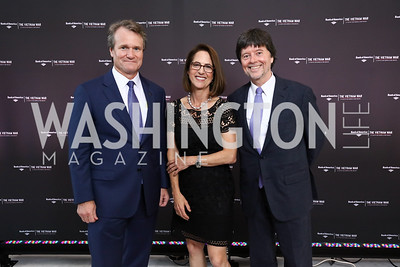 "Bank of America CEO Brian Moynihan, Co-directors of ""The Vietnam War"" Lynn Novick and Ken Burns. Photo by Tony Powell. ""The Vietnam War"" Preview Screening. Kennedy Center. September 12, 2017"