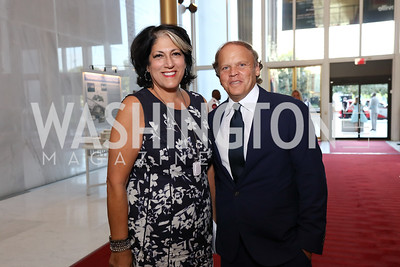 "Tammy Haddad, Mark Ein. Photo by Tony Powell. ""The Vietnam War"" Preview Screening. Kennedy Center. September 12, 2017"