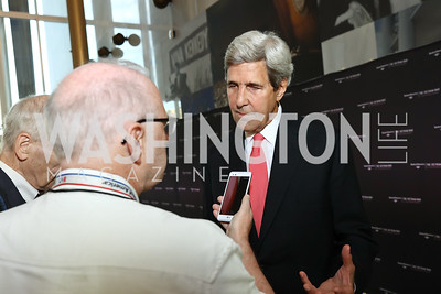 "68th United States Secretary of State John Kerry. Photo by Tony Powell. ""The Vietnam War"" Preview Screening. Kennedy Center. September 12, 2017"