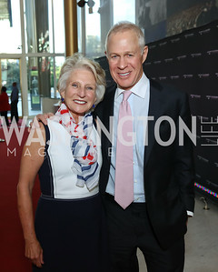 "Jane Harman, Bob Dickie. Photo by Tony Powell. ""The Vietnam War"" Preview Screening. Kennedy Center. September 12, 2017"