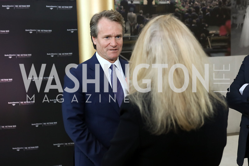 """Bank of America CEO Brian Moynihan. Photo by Tony Powell. """"The Vietnam War"""" Preview Screening. Kennedy Center. September 12, 2017"""
