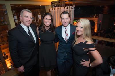 Christian Matthews, Jen Matthews, Trey Hollern, Kendra Kojcsich, The Whiskey Ball Inauguration Party, at MXDC, January 20, 2017.  Photo by Ben Droz.