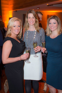 Sandy Reynolds, Beth Jafari, Laura Radley, The Whiskey Ball Inauguration Party, at MXDC, January 20, 2017.  Photo by Ben Droz.