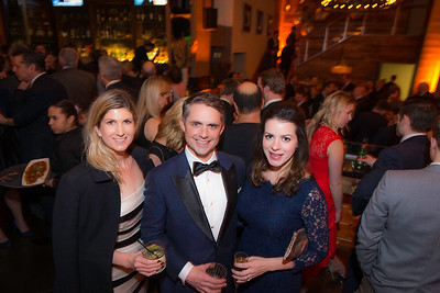 Kate Callanan, Ben Jenkins, Katie Zirkelbach, The Whiskey Ball Inauguration Party, at MXDC, January 20, 2017.  Photo by Ben Droz.