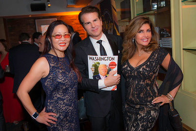 Joyce Chow, Vincent DePaul, Beth Webster, The Whiskey Ball Inauguration Party, at MXDC, January 20, 2017.  Photo by Ben Droz.