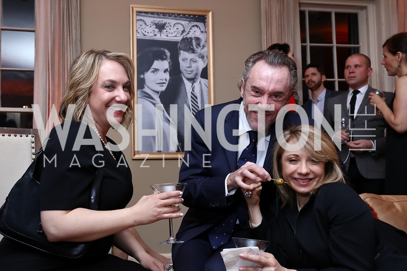 CNN Global Affairs Correspondent Elise Labott, Enrique Sarda Valls, Yolanda Rodriguez Benitez. Photo by Tony Powell. Thoughts of Camelot anyone? April 22, 2017