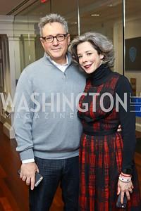 Stephen Kessler, Heather Podesta. Photo by Tony Powell. TimeWarner Inaugural Brunch and Reception. January 20, 2017