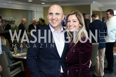 Adam and Claire Kaufman. Photo by Tony Powell. TimeWarner Inaugural Brunch and Reception. January 20, 2017