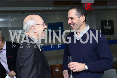 Kurt Newman, David Grimaldi. Photo by Tony Powell. TimeWarner Inaugural Brunch and Reception. January 20, 2017