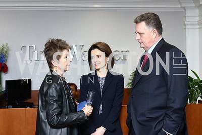 Dorothy Kosinski, Chevron VP Maria Karp, VP Jay Pryor. Photo by Tony Powell. TimeWarner Inaugural Brunch and Reception. January 20, 2017