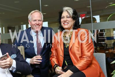 Tim McBride, Tammy Haddad. Photo by Tony Powell. TimeWarner Inaugural Brunch and Reception. January 20, 2017