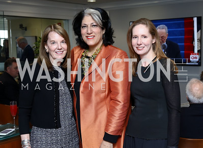 Carol Melton, Tammy Haddad, Juleanna Glover. Photo by Tony Powell. TimeWarner Inaugural Brunch and Reception. January 20, 2017