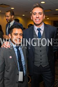 Steve Alfaro, Cristobal Alex. Photo by Alfredo Flores. Tribute to Mayors Inaugural Unity Dinner. Hyatt Regency Capitol Hill. January 18, 2017