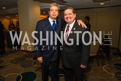 Emilio Gonzalez, Roger Rocha Jr. Photo by Alfredo Flores. Tribute to Mayors Inaugural Unity Dinner. Hyatt Regency Capitol Hill. January 18, 2017