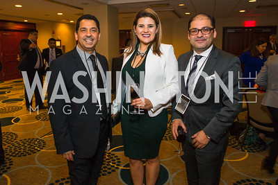 Alfredo Calderon Santini, Lina Gomez, Ricardo Hurtado. Photo by Alfredo Flores. Tribute to Mayors Inaugural Unity Dinner. Hyatt Regency Capitol Hill. January 18, 2017 .CR2