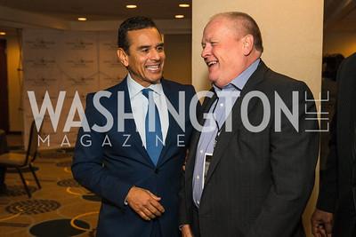 Antonio Villaraigosa, Bobby Watson. Photo by Alfredo Flores. Tribute to Mayors Inaugural Unity Dinner. Hyatt Regency Capitol Hill. January 18, 2017