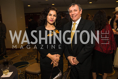 Rushan Abbas, Milton Chaves. Photo by Alfredo Flores. Tribute to Mayors Inaugural Unity Dinner. Hyatt Regency Capitol Hill. January 18, 2017