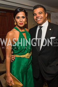 Kenya Price, Jerry Price. Photo by Alfredo Flores. Tribute to Mayors Inaugural Unity Dinner. Hyatt Regency Capitol Hill. January 18, 2017