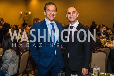 Antonio Villaraigosa, Jorge Elorza. Photo by Alfredo Flores. Tribute to Mayors Inaugural Unity Dinner. Hyatt Regency Capitol Hill. January 18, 2017