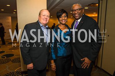 Bobby Watson, Derryl Benton, Jackie Benton. Photo by Alfredo Flores. Tribute to Mayors Inaugural Unity Dinner. Hyatt Regency Capitol Hill. January 18, 2017