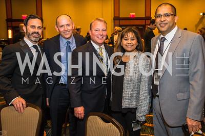 Gabe Klein, Hubert Riley, Mark Mitchell, Mrinalini Ingram, Majid Khan. Photo by Alfredo Flores. Tribute to Mayors Inaugural Unity Dinner. Hyatt Regency Capitol Hill. January 18, 2017