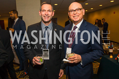 Brent Wilkes, Romulo Diaz Jr. Photo by Alfredo Flores. Tribute to Mayors Inaugural Unity Dinner. Hyatt Regency Capitol Hill. January 18, 2017