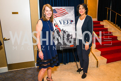 Carol Melton, Tammy Haddad, Photo by Alfredo Flores. Veep Screening. Motion Picture Association of America. April 13, 2017