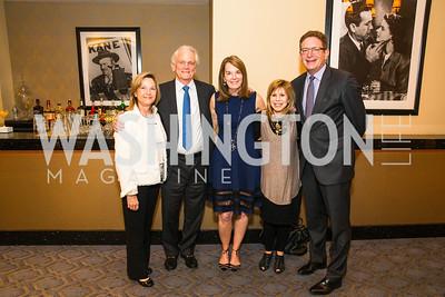 Mary Lee Coffey, Shelby Coffey, Carol Melton, Sharon Polansky, Jeffrey Herbst. Photo by Alfredo Flores. Veep Screening. Motion Picture Association of America. April 13, 2017