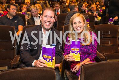 Doug Heye, Ieva  Augstums.  Photo by Alfredo Flores. Veep Screening. Motion Picture Association of America. April 13, 2017