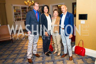 Steve Clemons,  Tammy Haddad, Dorothy Kosinski, Thomas Krähenbühl.  Photo by Alfredo Flores. Veep Screening. Motion Picture Association of America. April 13, 2017