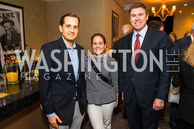 Ryan Williams, Annie Linskey, Mike Dubke. Photo by Alfredo Flores. Veep Screening. Motion Picture Association of America. April 13, 2017
