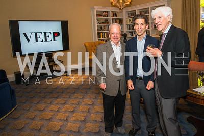 Philippe Bourguignon, Robert Haft, Joe Hassett. Photo by Alfredo Flores. Veep Screening. Motion Picture Association of America. April 13, 2017